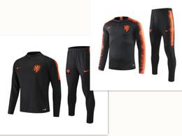 Deutschland 2019-2020, die niederländische Fußball-Club Training Jersey Jogginganzug Sportbekleidung Herrenmode Freizeitklage-Sportklage, schwarz und weiß Versorgung