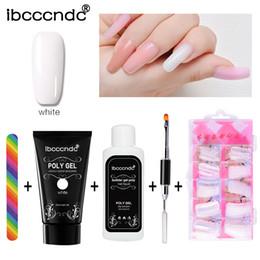 Kit di soluzione online-Poly Gel Kit Nail Builder Gel Smalto per unghie Polygel Estensione rapida per unghie Lacca UV resistente Soluzione antiscivolo Set d'arte
