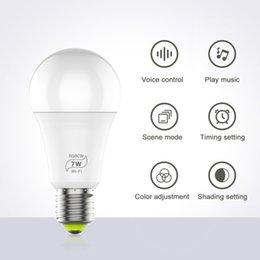 Alexa google Evde uyumlu Paketi satmak RGBW Akıllı WIFI Led Ampul 7W E27 Akıllı Ev Bluetooth Lamba Renk nereden