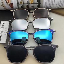 boîte de tb Promotion 2019 NOUVEAU style haute qualité thom tb107 lunettes de soleil hommes et femmes TB 107 noir couleur browne avec boîte originale livraison gratuite