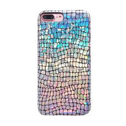 Wholesale Pour IPhone X XS MAX XR Etui Serpents Dessins Peau Arc En Ciel Bling Glitter Serpent Cas de Téléphone Laser Couverture pour IPhone7 Plus S s Plus plus