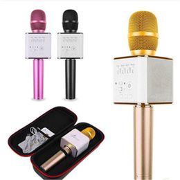 micrófonos android Rebajas Magic Q9 Bluetooth Micrófono inalámbrico Micrófono de mano KTV con altavoz Mic Altavoz Karaoke Q7 Actualización para el teléfono Android