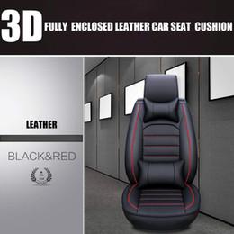 Носимые четыре сезона общего назначения кожаный чехол для сиденья автомобиля внедорожник передняя и задняя крышка сиденья с подушкой полный комплект автомобилей от