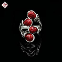 Grüner rubinring online-Männer Frauen Türkis-Ring für Weihnachten Valentine Blau Grün Rot Stein Bands Red Ruby Blue Men Ring Vatertag