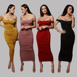 2019 chiffon hochzeitskleid tropfen ärmel Designer Womens Kleider Sexy Brand Frauen Nachtclub Party Luxus Sommer Plissee Kleid Wort Kragen Trägerlosen Rock