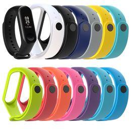 2019 apro reloj inteligente Reloj con correa de silicona suave para Xiaomi Mi Banda 4 correa de muñeca para Xiaomi Mi Banda 3 correas de reloj pulsera de 116 M3 más inteligente del reloj