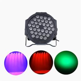 2019 luz verde mini pc AUCD Mini 36 Pcs RGB Verde Vermelho Azul Leds LED Par Iluminação de Palco Disco DJ Clube Efeito De Casamento Show DMX Luz Estroboscópica LE-Par36 desconto luz verde mini pc