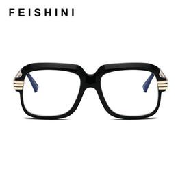 lunettes lindberg Promotion Feishini Trend Unisexe Surdimensionné Lunettes Cadre Hommes Cobain Lunettes Clear Lens Vision Transparent Lunettes Femmes Vintage