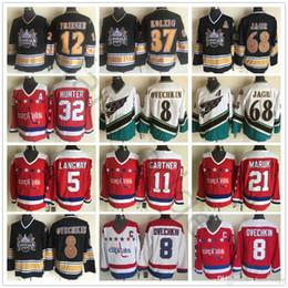 f41145019b7 Vintage Washington Capitals 8 Alex Ovechkin 68 Jaromir Jagr 77 Oshie 37  Kolzig 12 Friesen 11 Gartner 32 Hunter Langway Maruk Hockey Jerseys