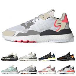 adidas nite jogger Mode nite jogger 3 m réfléchissant hommes chaussures de course pour femmes triple noir blanc vert plein air hommes formateurs