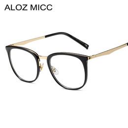 651a74c67 ALOZ MICC Vintage Women Square Glasses Frame Fashion Optical Glasses Clear  Transparent Lens Men Eyeglasses A354