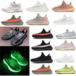 venda de botas de futebol frete grátis Desconto GID 2019 Glow In The Dark Clay Forma Física Hiperespaço Estático 35 v2 Homens Tênis Kanye West verde designer de luxo mens sneakers
