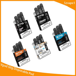Recharge ecig en Ligne-Vgod Stig Pod Kits de démarrage 270mAh Kit de stylo ECG jetable pour stylo vape jetable avec kit portable de 1,2 ml