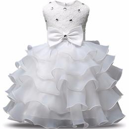 robes de baptême nouveau-né Promotion Nouveau-né Fille Baptême Bébé Première Fête D'anniversaire Robe Infant Baptême Costume Enfants Robes Pour Les Filles Vêtements 24 m Q190518