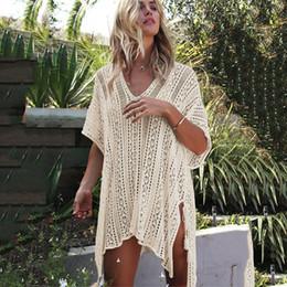 Nuevo Traje de baño 2018 Traje de baño Mujer Cover Ups Kaftan Vestido de playa Robe De Plage Sólido algodón blanco Pareo Beach Cover desde fabricantes