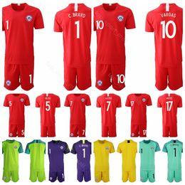 ca5a969fd 2018 2019 Chile 10 Jorge Valdivia Jersey Set Men Soccer 14 Matias Fernandez  1 Claudio Bravo Football Shirt Kits Uniform Custom Name Number discount  soccer ...