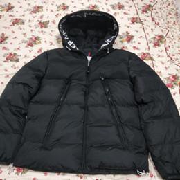 2019 felpa con cappuccio anatra coreana  2020 Mens Jackets a vento caldo di spessore con cappuccio lettere Ricamo Casual Jacket Moda inverno Down Jacket Europa formato S-2XL