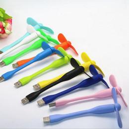 computer portatili colorati Sconti Dispositivo di raffreddamento portatile flessibile USB Mini ventola di raffreddamento Simpatico dispositivo di raffreddamento colorato per computer desktop portatile