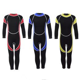 Traje de buceo de lycra online-Nuevo traje de buceo para niños de comercio exterior de 2,5 mm de grosor, traje de baño de invierno, natación, frío, protector solar, medusas, ropa de playa