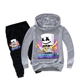 2019 chaqueta de dj Suéter para niños Multi color de algodón de manga larga Candy DJ Casual Comfort Jacket Sweater + Beam T pantalones EEA529 rebajas chaqueta de dj