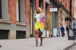 Vestidos de verano de una pieza Vestidos de diseñador del Club Sexy de colores Casual Mujer Personalidad Vestido dividido Ropa femenina desde fabricantes