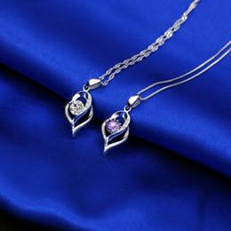 2019 font incisione Fashion Wedding Love Shape Ciondolo Classico Cristallo Donna Cuore Ciondolo Lady Jewelry Party Festival Regalo TTA1276