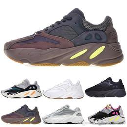 zapatillas marrones Rebajas 700 Wave Runner Kanye West Original Running Shoes For Men Mujeres 700 Zapatos Triple Blanco Negro Marrón Diseñador Zapatillas deportivas Zapatillas de deporte