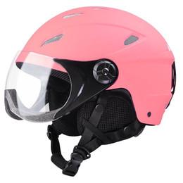 2019 hot-pink-fahrräder Erwachsener Schneesporthelm ATSM zertifiziert für Ski Skate Board Protective Pink XL