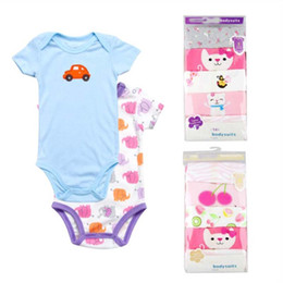 b7ab644c0ad 50Pcs lot Infant Baby Kids Rompers Jumpsuit Summer Baby Boy Girl Short  Sleeve Cotton Rompers Jumpsuit Clothes Outfits 3-24M