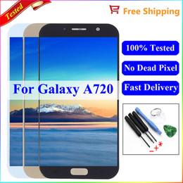 2019 галактика a7 lcd Для Samsung Galaxy A7 2017 A720 A720F A720F / DS ЖК-дисплей с сенсорным экраном дигитайзер для Samsung A7 2017 A720F ЖК-экран скидка галактика a7 lcd