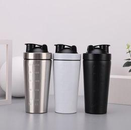 tazze di frullati Sconti Protein Shaker Cup Drinkware in acciaio inox 750ml Vacuum Shaker isolato Bottiglia d'acqua Miscelatore sportivo Tazza per caffè Tazza per caffè