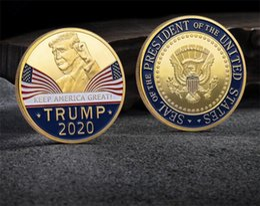 2020 Дональд Трамп Памятная монета «Держи Америку» Великий американский президент Аватар Золотые монеты Серебряный значок Коллекция металлических изделий G482 от Поставщики редкий тибетский нефрит