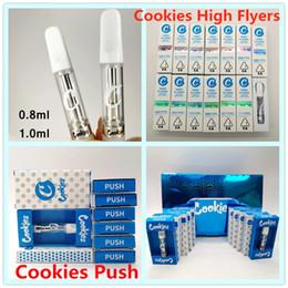 2019 kayfun mini v3 Cookies Carts Vape Patronen High Flyers Cookies Push-Cartridge 0,8 ml 1,0 ml Keramik Coil Vape Carts 2mm leeren Tank Vape Pens 510 Atomizer