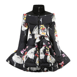 Cintura russa online-Russian Winter Giacche 2018 New Kids Down Jacket Cintura spessore caldo giù lungo parka ragazze dei bambini i vestiti 10 12 anni MX191024