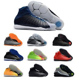 colorful tennis shoes Promo Codes - HypervenomX Proximo II DF IC 2019 MD Cup Mens Football Shoes Football Boots Colorful Superfly Cleats
