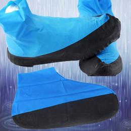 2019 gummi-schuhabdeckungen ausrutschen Unisex blau wasserdicht Überschuh Gummi verdicken Regen wiederverwendbare Elastizität Überschuhe Anti-Rutsch-Boot-Schutz-Abdeckungen Dropshipping günstig gummi-schuhabdeckungen ausrutschen