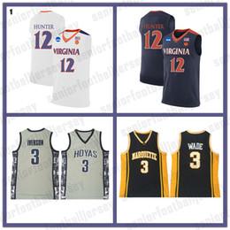 12 человек майка Скидка NCAA 12 De'Andre Hunter 1 Zion Williamson Jersey College 12 Джа Морант Мужчины 3 Уэйд Баскетбол Носит