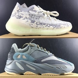 Xmas 700 Aumenta Kanye West 380 Estrangeiro Shoes Hospital azul Teal Utility Preto Ondas corredor Sneakers Mens Tamanho 13 Vanta Inércia Mauve de