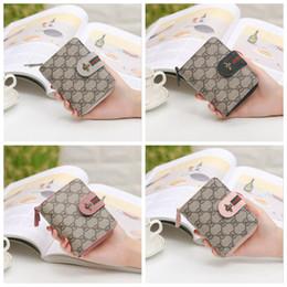 2019 lindas carteras pequeñas para mujeres Las nuevas mujeres de la tarjeta corta bolsa de cremallera monedero niños monedero moda pequeña abeja lindos bolsos mini billetera lindas carteras pequeñas para mujeres baratos