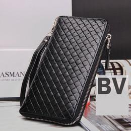 sacs en cuir tissé Promotion BV de haute qualité en cuir PU mode portefeuille long porte-cartes hommes portefeuilles carte sac de style européen marque armure sacs à main marque clips d'argent