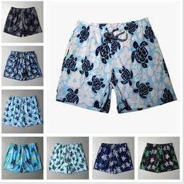 Мужские боксерские сундуки онлайн-Summer Turtle Печатные мужские пляжные шорты Мужские купальники Шорты Board Quick Dry Спортивные боксерские шорты Шорты Купальники ZZA579