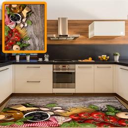 Tapis de tapis de cuisine noirs en Ligne-Autre En Bois Petit Déjeuner Table Tomate Olives Noires 3d Imprimer Non Slip Microfibre Cuisine Moderne Décoratif Lavable Tapis Tapis