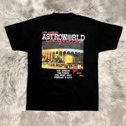 Concert t shirts xl en Ligne-Travis Scott AstroWorld Hommes T-shirts À Manches Courtes Ras Du Cou Mode Casual Vêtements World Tour Concert Vêtements