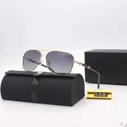 MONTBLANC 508 Золотые металлические очки Pilot с кожаными серыми градиентными линзами Мужские дизайнерские солнцезащитные очки occhiali da sole New With Box от
