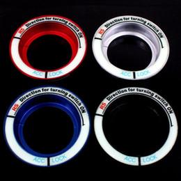 Chiave per foro online-Adesivo auto Glow Portachiavi Foro Adesivo luminoso Interruttore accensione Moto Decal Circle Light Decoration For Focus