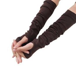 Сексуальные перчатки моды онлайн-2018 New Fashion Femme knitted glove Long Sexy Knitted Glove Women Winter Wrist Arm Hand Warmer Long Fingerless Gloves