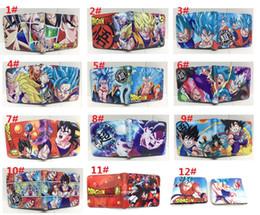 23 stili dragonball Short Purse Gift Borse per bambini Portafogli Bambini Cartoon Anime Gioco PU portafoglio con cerniera Coin Pocket School Unisex da portafogli scolastici fornitori