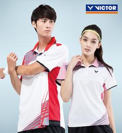 2019 victor badminton camisas Novo Victor Quick Dry Badminton Camisas Para Senhoras T-shirt de Manga Curta de Tênis Mulheres Esporte Vestuário Sportswear desconto victor badminton camisas