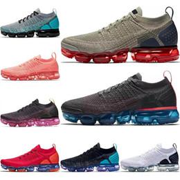 Argentina 2019 Nike vapormax flyknit 2.0 Zapatillas de running Hombre Triples Blanco Negro Fresco Gris TPU Zapatillas de deporte de moda para hombre y mujer diseñador sandalias zapatos cheap sandal running shoes Suministro