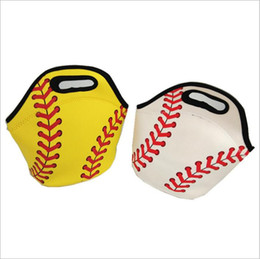sac à lunch Promotion Baseball Lunch Bag Box Sacs de pique-nique en néoprène Sports Softball Fourre-tout Isolé Glacière Sacs Transporteur alimentaire Sacs de rangement Sacs à main imperméables B4691